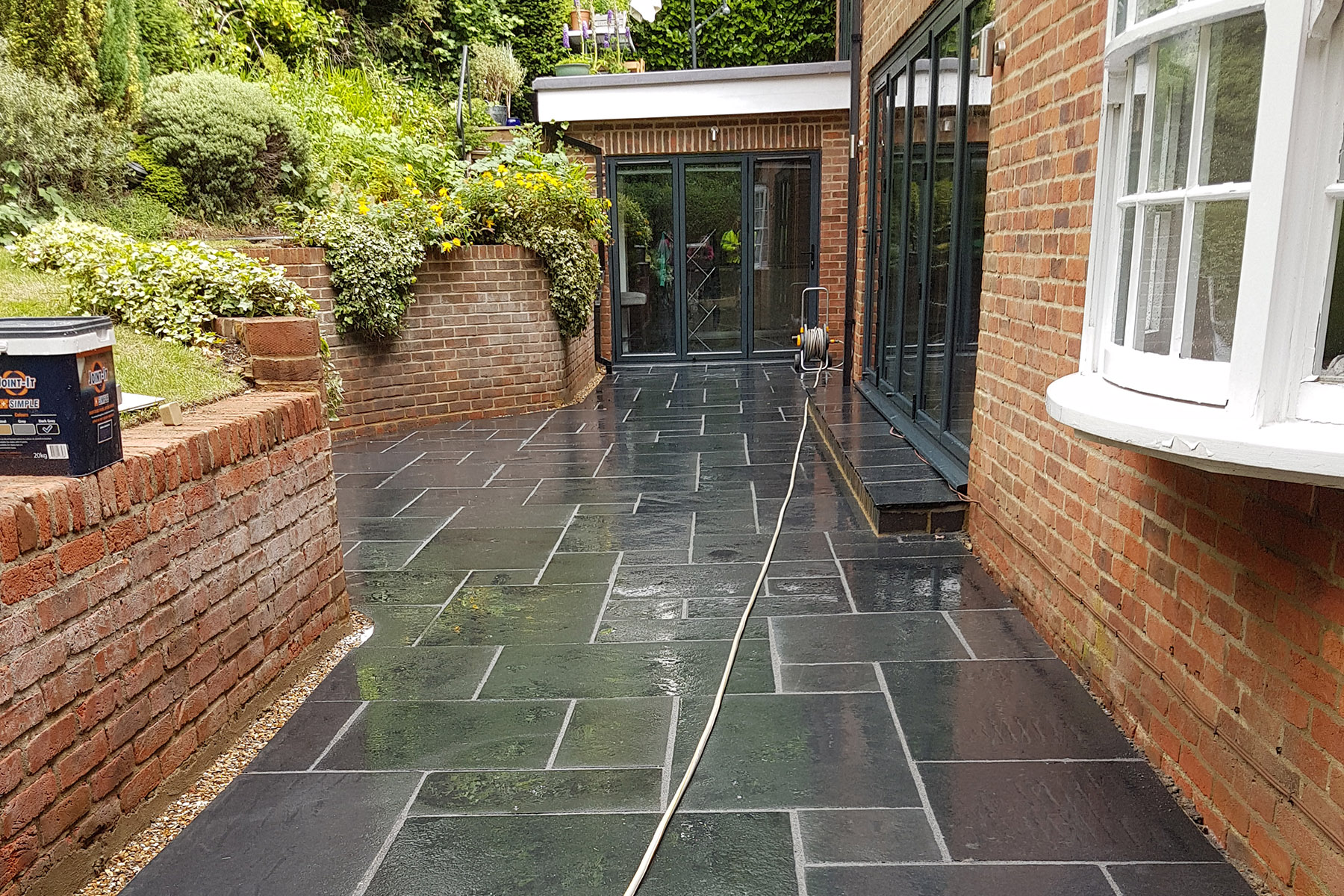 Patio and landscaping project in Caversham Heights, Reading